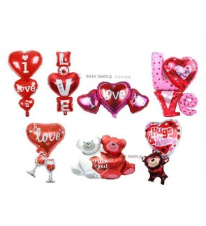 [Ready Stock]  I Love U Heart Foil Balloon Anniversary Wedding Valentines Party
