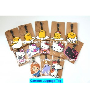[Ready Stock] Travel Luggage Suitcase Bag Tag Gift Holiday Cartoon Gudetama Pony