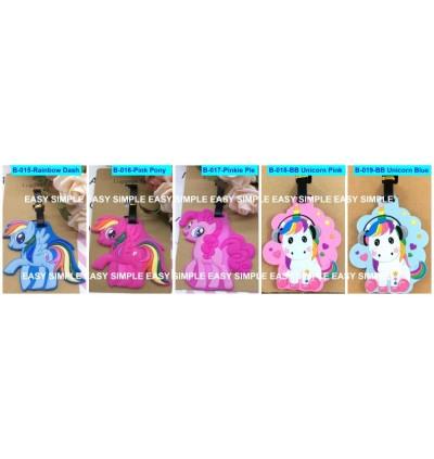 [Ready Stock] Travel Luggage Suitcase Bag Tag Gift Holiday Cartoon Gudetama Pony