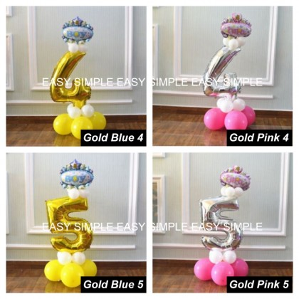 [Ready Stock]DIY Number Gold Silver Balloon Road Lead Birthday Foil Balloon