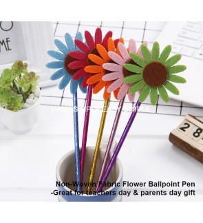 [Ready Stock] Sunflower Design Ballpoint Pen School Teacher Parent Gift Blue Ink