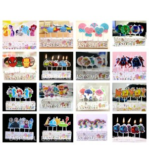 [Ready Stock] Kids Happy Birthday Cake Candle Cupcake Toppers Party Decoration