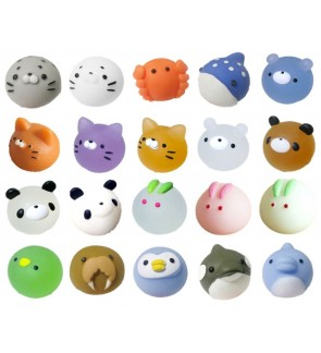[Ready Stock] (OPP Bag)(5-6cm) Mochi Squishy Toys Squeeze Kawaii Stress Reliever