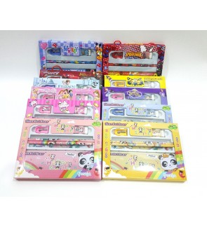 [Ready Stock] Kid Stationery Set School Birthday Gift Party Return Pencil Case