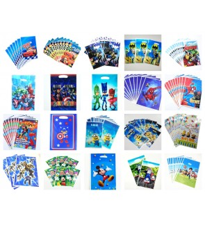[Ready Stock] 10pcs/pack Kid Party Loot Goodies Gift Bag SuperHero PVC Treat Boy