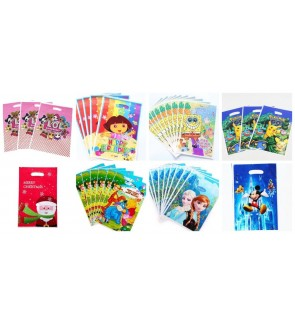 [Ready Stock] 10pcs/pack Kid Party Loot Goodies Gift Bag SuperHero PVC Treat Mix