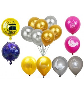 [Ready Stock] Ramadan Eid Mubarak Balloons Decor Festival Decoration Islamic