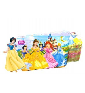 [Ready Stock] 40pcs Princess Kids Puzzle Cute Jigsaw Gift Educational Learning