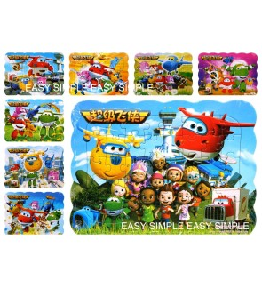 [Ready Stock] 4 design in 1 set Super Wings Kids Puzzle Cute Jigsaw Girl Gift - Stock Clearance