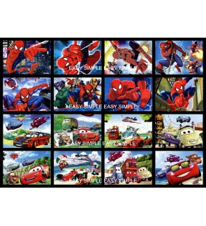 [Ready Stock] 40Pcs Spiderman Cars Kids Puzzle Cute Jigsaw Girl Gift