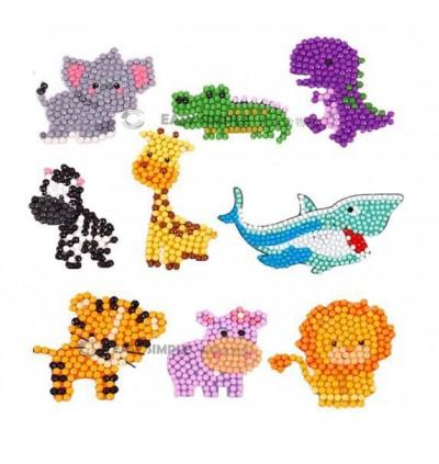 [Ready Stock] (1 Set) New 5D DIY Diamond Painting Kits Mosaic Sticker Kid Adult Cartoon Shark Princess Cup Decoration