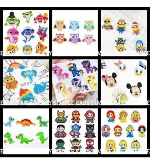 [Ready Stock] New 5D DIY Diamond Painting Kits Mosaic Sticker Kid Adult Cartoon