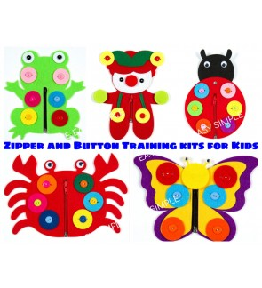 [Ready Stock] Toddler Learn to Dress Busy Board Zip Button Basic Life Skills