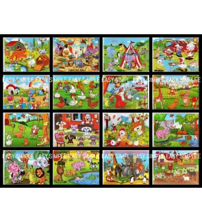 [Ready Stock] (1 Piece) A4 Size Paper Puzzle Jigsaw Animal Jungle Safari Party Gift Education