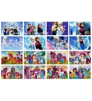 [Ready Stock]40Pcs Frozen and Pony Kids Puzzle Cute Boy Birthday Gift