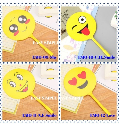[Ready Stock] Emoji Face Ballpoint Fan Style Pen Stationery Gift Party Goodies School Office