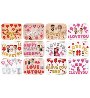 [Ready Stock] Love Wedding Party Balloon Decoration Aluminum Foil Bride Groom
