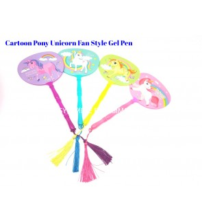 [Ready Stock]Cartoon Pony Unicorn Fan Style Gen Pen Stationery School Office