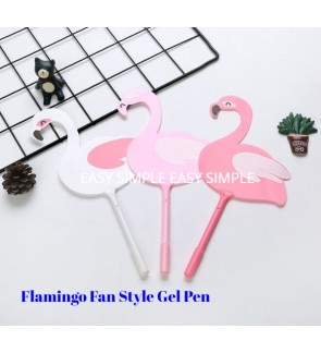 [Ready Stock]Flamingo Fan Style Gen Pen Stationery School Office Gift Party