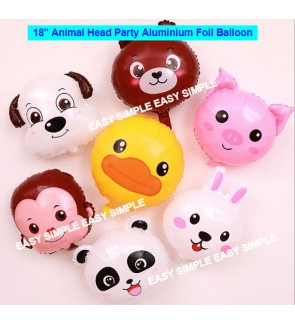 [Ready Stock] 18 Inch Aluminium Foil Balloon Party Animal Theme Model Balloons