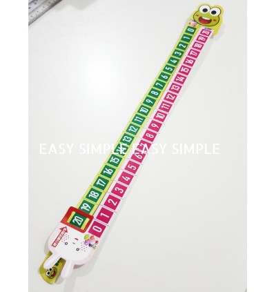 1-20 Number Addition and Subtraction Math Counting Learning Ruler Plastics