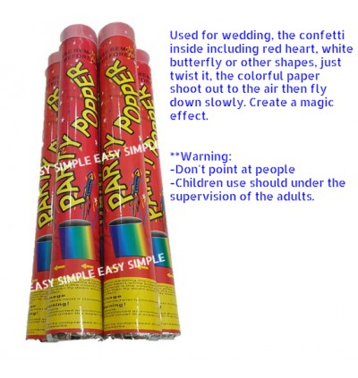 [Ready Stock] 38cm Party Popper Wedding Confetti Compressed Air (No Fireworks)