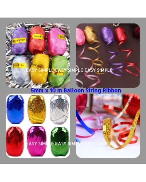 1pc (5mmx10m) Shiny Balloon Ribbon Party Decoration String Craft Wrapping Gift