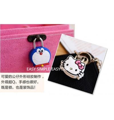 [Ready Stock] 1pc Cute MINI PVC Pad Locks Cartoon Drawer/Luggage/Bag Lock Gift