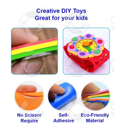 [Ready Stock] Kid Toys EVA DIY Cartoon Watch Handmade Crafts Kits Decor Gift