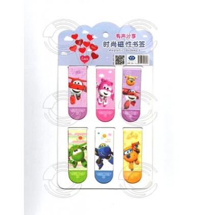 [Ready Stock] 1set (6pcs) Creative Cartoon Magnetic Bookmark Gift Stationery