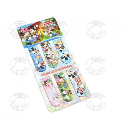 [Ready Stock] 1set (6pcs) Creative Cartoon Magnetic Bookmark Gift Stationery