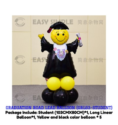 [Ready Stock] Graduation Road Lead Balloon Party Graduate Wall Drops Decoration