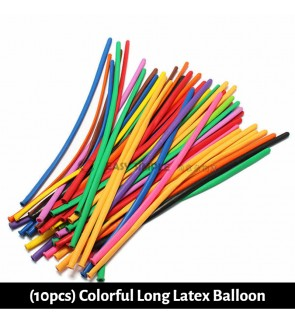 [Ready Stock] 10Pcs Magic Mixed Colorful Long Sculpture Balloon Clown Modelling Latex Balloons Decoration Party Twist