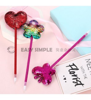 [Ready Stock] Kawaii Ballpoint Pen Sequin Paillette Animal Modeling Stationery