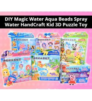 [Ready Stock]DIY Magic Water Aqua Beads Spray Water HandCraft Kid 3D Puzzle Toy