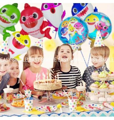 [Ready Stock] Baby Shark Balloons Decorations Children Birthday Doo Doo Foil Balloon