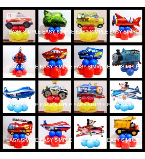 [Ready Stock]DIY Transportation Foil Latex Balloon Road Lead Birthday Floor Table Party