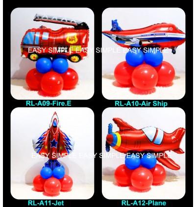 [Ready Stock]DIY Transportation Foil Latex Balloon Road Lead Birthday Floor Table Party