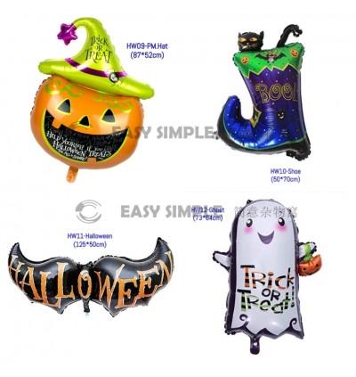 [Ready Stock] Happy Halloween Party Decoration Foil aluminium Balloon