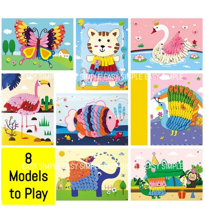 [Ready Stock] New Kid DIY Non-Woven Fabric Art Painting Diamond Mosaic Craft