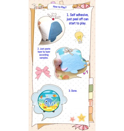 [Ready Stock] Kid DIY Korea Style Self Adhesive Painting Craft Kits Holiday Fun