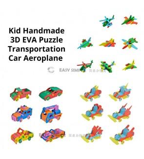 [Ready Stock] Kid 3D DIY Mini EVA Aeroplane Airplane Car Go Kart EVA Puzzle (Random Color)