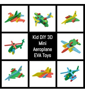 [Ready Stock] Kid 3D DIY Mini EVA Aeroplane Airplane EVA Puzzle (Random Color)