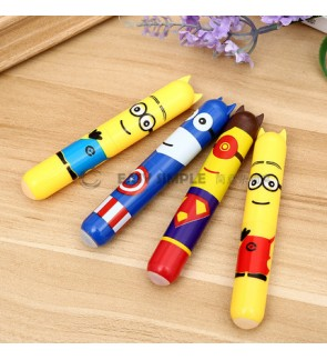 [Ready Stock] Super Hero Minions Superman Captain Ball Point Pen Boy Gift School