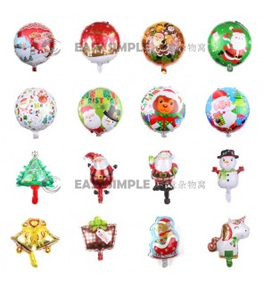 [Ready Stock] Wall Merry Christmas Aluminium Foil Balloon Kid Party Decoration Gift