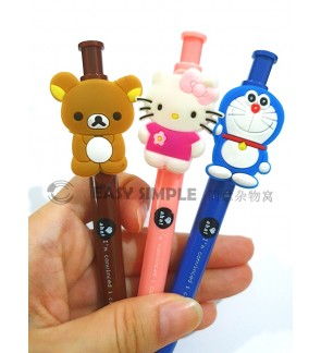 [Ready Stock] Kitty Rilakkuma Doraemon Ball Point Pen Boy Girl Gift School