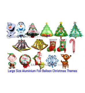 [Ready Stock] Merry Christmas Party Decoration Foil aluminium Balloon (XM21 - XM36)