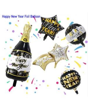 [Ready Stock] Happy New Year Aluminium Foil Balloon Kid Party Decoration Gift