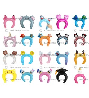 [Ready Stock] Cartoon Hairband Balloons Baby Birthday Balloon Party Toys (HB21 - HB40