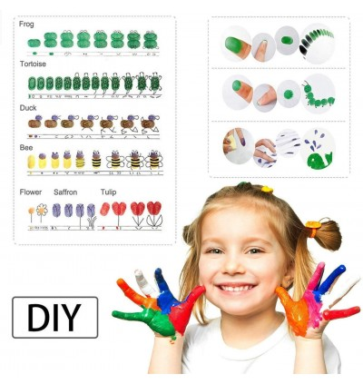 20 Colors Rainbow Finger Paint Ink Pad DIY Scrapbooking Craft Ink Pad Stamps